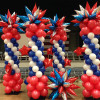 Starburst Columns Patriotic